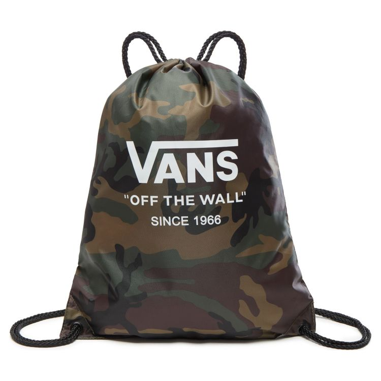Сумка мешок Vans League Bench Bag Camo - White зеленая