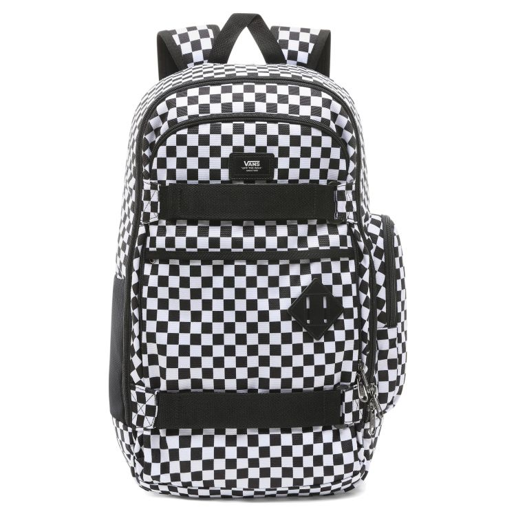 Рюкзак для скейта Vans Transient III Sk8P Black/White Checkers белый