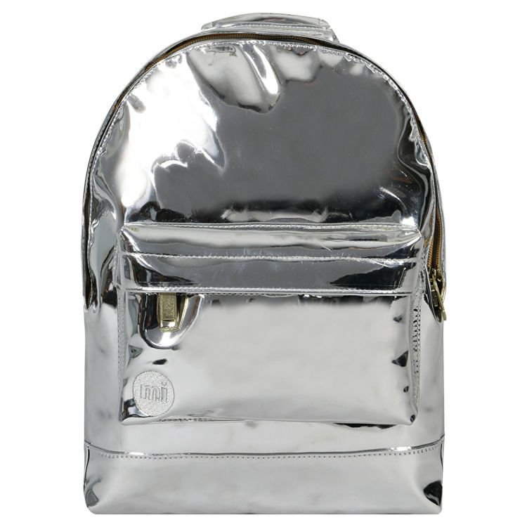Рюкзак женcкий мини Mi-Pac Mini Mirror Silver серебристый