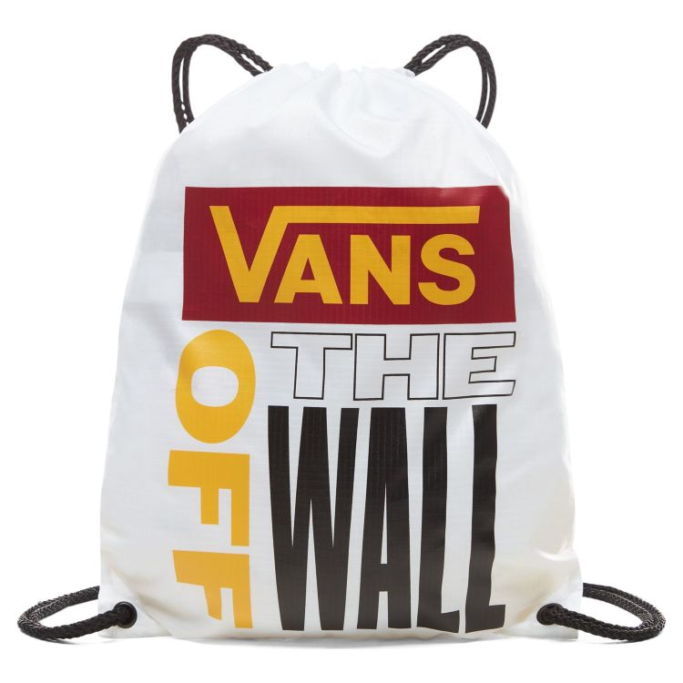 Сумка мешок Vans League Bench Bag White - Rhumba Red белая