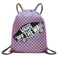 Сумка мешок Vans Benched Bag Blue Sapphire - Strawberry Pink Checkerboard розовая