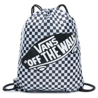 Сумка мешок Vans Benched Bag Black White Checkerboard белая