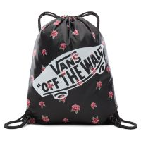 Сумка мешок Vans Benched Bag Black Rose черная