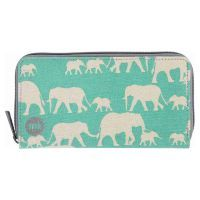 Кошелек Mi-Pac Zip Purse Elephants Mint зеленый